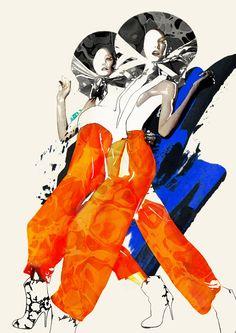 -Spiros Halaris- 'fashion illustration'