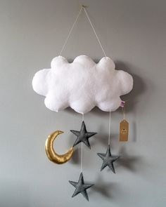Check out this item in my Etsy shop https://www.etsy.com/listing/610212963/cloud-mobile-cloud-star-moon-garland