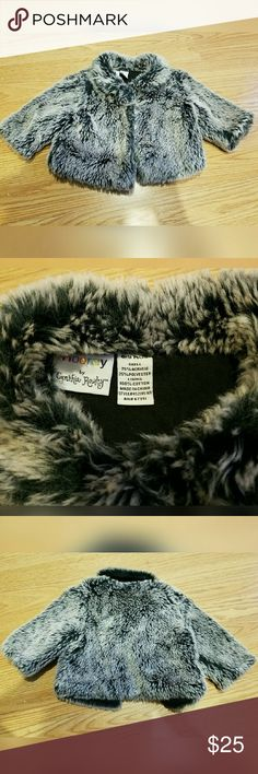 Adorable, CYNTHIA ROWLEY, baby, faux fur!! So great!! Excellent condition. Two snap closure. Shell: 75% acrylic. 25% polyester. Lining: 100% cotton. Brand is Hooray by Cynthia Rowley. Cynthia Rowley Jackets & Coats