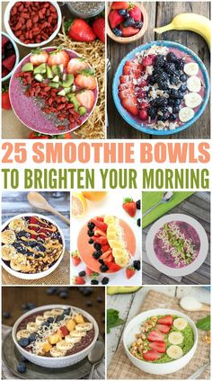 Here are 25 Smoothie Bowls to Brighten Your Morning. These are the perfect breakfast for the family when the weather starts warming up.
