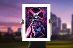Psylocke Fine Art Print by Sideshow | Sideshow Fine Art Prints Star Comics, Marvel Comics Art, Comic Book Artists, Comic Artist, Embossed Seal, Pink Power, Psylocke, Butterfly Shape, Sideshow Collectibles