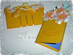 Paper Dreams & Creative Wishes: Berry Basket die used to create a gift card holder!