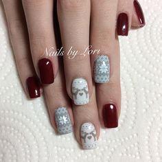 Moyou London Festive 30 @polished_by_lori Nail stamping Sweater nails