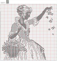 Cross Stitch Love, Cross Stitch Designs, Cross Stitch Patterns, Blackwork Embroidery, Cross Stitch Embroidery, Thread Crochet, Crochet Doilies, Crochet Patterns Filet, Cross Stitch Silhouette