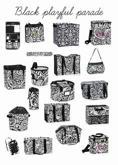 New design from Thirty-One: Black Playful Parade #mythirtyone #thirtyone #blackplayfulparade