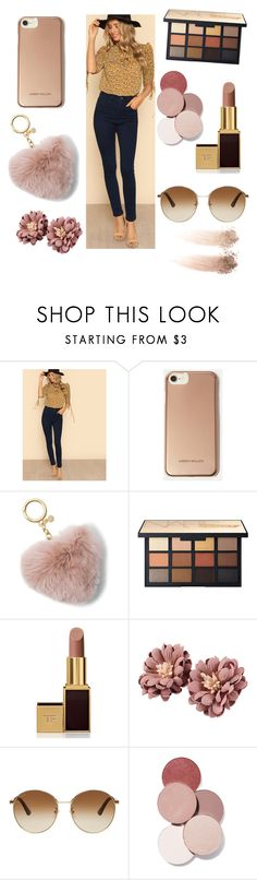 """Brown is my color for today XD"" by analysa123 ❤ liked on Polyvore featuring Karen Millen, MICHAEL Michael Kors, Tom Ford, Gucci and LunatiCK Cosmetic Labs"