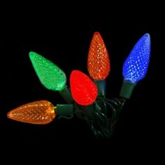 2 PACKString Lights 25 C9 Bulbs Commercial Grade LED 17 feet Outdoor MULTI * Click image for more details.