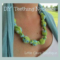 DIY Super Stylish Teething Necklace