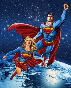 Chris and Helen; Superman and Supergirl.