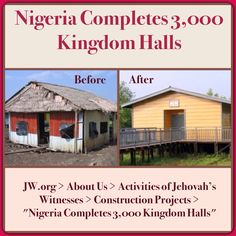 """NIGERIA - A special meeting was held to celebrate a milestone with Kingdom Hall construction in Nigeria. A brief history of the work of Jehovah's Witnesses since the 1920's was featured. ♥•.¸¸.•♥ JW.org > About Us > Activities of Jehovah's Witnesses > Construction Projects > """"Nigeria Completes 3,000 Kingdom Halls"""" ༺♥༻ JW.org has the Bible and study aids to read, watch, listen and download in 700+ (sign included) languages. Also home bible studies. Plus now TV.JW.org and all at no charge."""