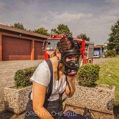 Gas Mask Girl, Female Firefighter, Gas Masks, Respirator Mask, Full Face Mask, Lunges, Safety, Girls, Women