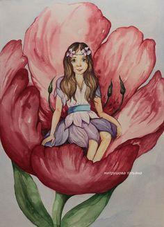 Посмотреть иллюстрацию Татьяна Митрушова - Дюймовочка.