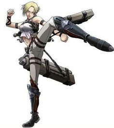 Attack on Titan/Annie Mikasa, Armin, Attack On Titan Ships, Attack On Titan Anime, Snk Annie, Manga Anime, Anime Art, Female Titan, Annie Leonhart