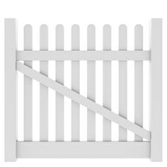 Barrette Elite Lennox Straight 4-ft X 5-ft White Picket Drive Vinyl Fence Gate…