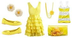 Yellow outifit idea