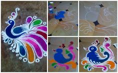 Peacock - Rangoli making