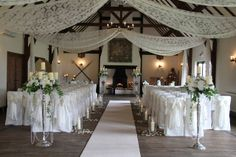 3 - possible option if I need or am able to do any additional at the ceremony, reuse possibly for cake table?  Crystals, no pearls.        Flower Design Events: The Delicate & Seriously Elegant Wedding Day of Tina & Ben at The Great Hall at Mains