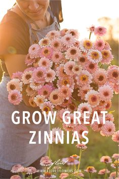 Zinnias Available in a brilliant rainbow of colors these happy blooms are a must grow for any gardener or flower lover As one of the easiest cut flowers to cultivate they. Zinnia Garden, Cut Flower Garden, Flower Farm, Cactus Flower, Rock Flowers, Cut Flowers, Spring Flowers, White Flowers, Gardening For Beginners