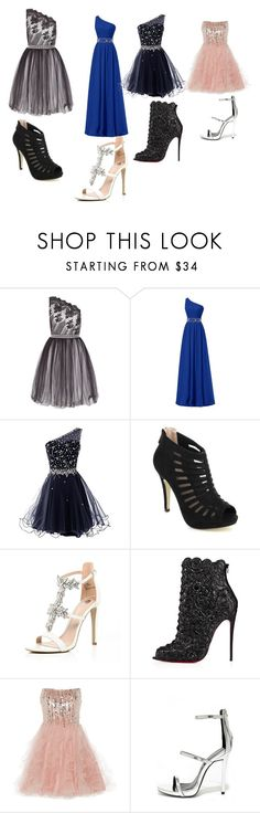 """""""prom set"""" by ella0611-2001 on Polyvore featuring Laced In Love, Pinky, River Island, Christian Louboutin, Anoushka G and Qupid"""
