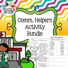 Here is a huge $$ saving bundle of fabulousCommunity Helpers resources.This bundle includes a total of 726 pages and will keep your students motivated and engaged while learning about Community Helpers.This bundle includes; Bingo Code Word Cracker Comprehension Editable Flashcards - Job Roles Jigsaw Puzzles Job Role Matching Jigsaws Literacy Worksheets Matching Items Jigsaw Puzzles Math / Numeracy Worksheets Mazes Shadow Matching Task Cards Who Am I?