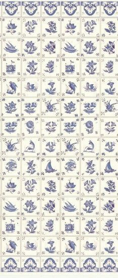 Delft Wall Tile Laminated paper