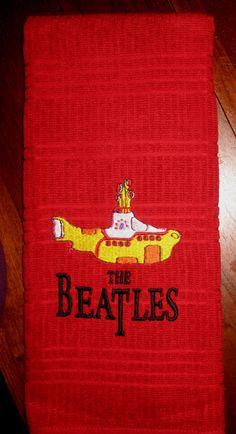 Towel Beatles Yellow Submarine by MooseLaguna on Etsy, $14.00