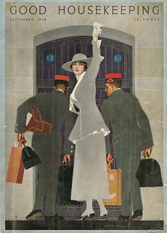 Vintage Magazine Cover by Coles Phillips September 1916