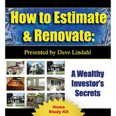 How to estimate and renovate your real estate property Real Estate Coaching, Real Estate Investing, Secret House, Home Study, Investors, Success, Racing, Life, Money