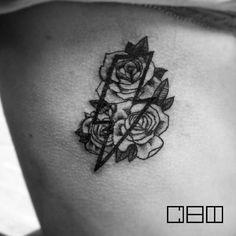 «#chi #tattoo #kyiv #тату #Киев #roses #lightning #розы #молния »