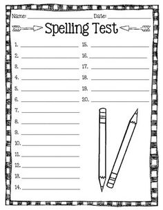 free printable spelling test template - stellaluna story elements and mentor texts on pinterest