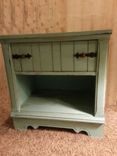 Check out this item in my Etsy shop https://www.etsy.com/listing/224277149/nautical-style-turquoise-nightstand