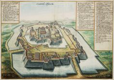 Johannes Vingboons produced views of many cities across the world. This is Osaka Castle, 1665.