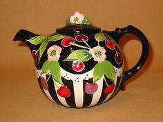 Cherries Cherry Cherry, Cherry Tree, Tea Kettles, Tea Strainer, Tea Pot Set, Mixed Berries, Chocolate Pots, Cream And Sugar, Cherry Blossoms