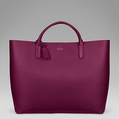 The Panama large tote in berry cross-grain calf leather #SmythsonAW14 http://www.smythson.com/dark-berry-panama-large-tote.html