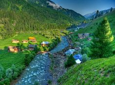 Taobut, Neelam Valley.    Excellent scenic beauty, towering hills on both sides of the noisy Neelum river, lush green forests, enchanting streams, high altitude lakes and attractive surroundings make the valley a dream come true.