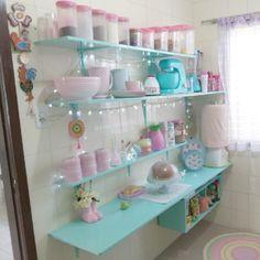 Cocina Shabby Chic, Shabby Chic Kitchen, Shabby Chic Decor, Vintage Home Decor, Vintage Kitchen, Kitchen Decor, Deco Pastel, Pastel Room, Living Room Designs