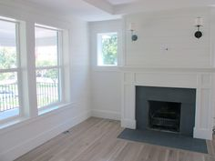 horizontal wood paneling. Nice and clean, manages to look a little formal.