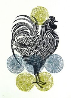 lino prints grey - Google Search