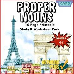 Proper Nouns 10 Page Booklet, Including 6 Full Page Worksheets Grade 4 - Prrintable For Classroom images ideas from Worksheets Ideas Abstract Nouns, Common And Proper Nouns, Grade 6 Math, Classroom Images, Multiplication Worksheets, Booklet, Teaching Resources, South Africa, African