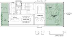 segunda planta - Casa de Cristal - Arquitectos: Hiroshi Nakamura & NAP