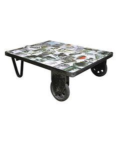 Icon Glam Trolley Style Coffee Table #zulilyfinds