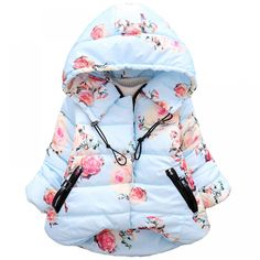 Baby Girls Jacket 2018 Autumn Winter Jacket For Girls Coat Kids Warm Hooded  Outerwear Coat For Girls Clothes Children Jacket 3c6c5318db4