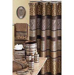 Safari Stripes Animal Print Bath Accessories For The Home