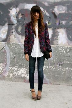blazer with jeans for casual fridays