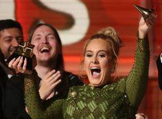 Adele quebrou o principal troféu do Grammy para dividir com Beyoncé