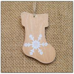 Botte de Noël en bois, à suspendre