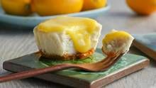 Mini cheesecakes crowned with Meyer lemon curd are a dessert worth all of the calories