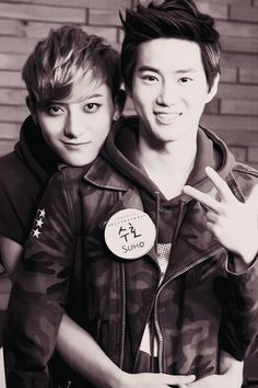 Tao and Suho, leader(father...omma) & magnae(son) I love how EXO is like a family!