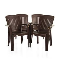 Buy Varmora Premium Chair Set of 4 (Verti Ergo - Brown) By HOMEGENIC by undefined, on Paytm, Price: Rs.4280?utm_medium=pintrest