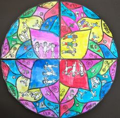Transdisciplinary Theme: Who We Are Central Idea: Beliefs and values are a part of who we are Key Concepts: Perspective, Connection Grade: 2    The Grade 2 students are doing a unit on Identity. I integrated with the classroom teachers by having the kids create mandalas that represent who they are.